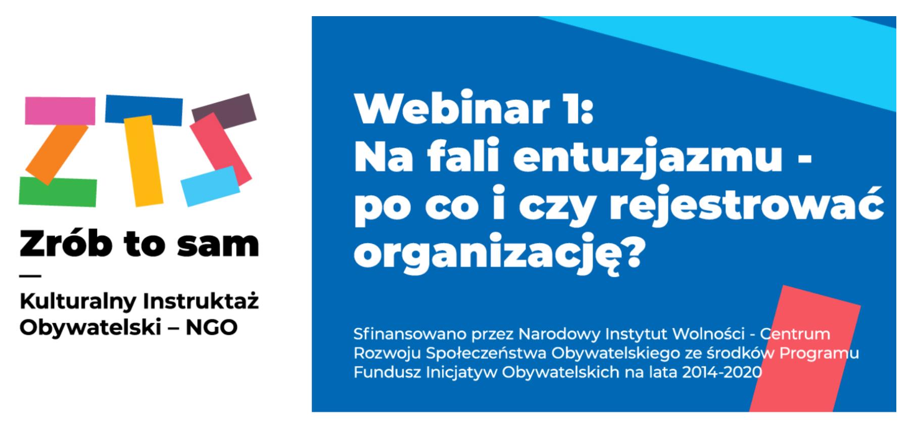 Załóż NGO - webinar 1